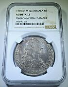 Ngc Guatemala 1789 Ng-m Silver 8 Reales Au Details 1700's Spanish Colonial Coin