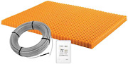 Schluter Ditra Heat Radiant Floor Heating Kit With Wifi Touchscreen Thermostat And