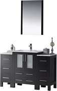 Blossom Sydney 48 Inches Single Bathroom Vanity Ceramic Sink With Double Side C
