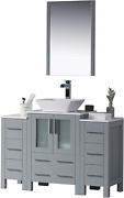 Blossom Sydney 48 Inches Single Bathroom Vanity Vessel Ceramic Sink With Double