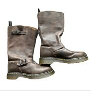 Dr Martens Womens Size 6 Case Engineer Boot Brown Aw004