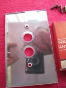 Nos Antique Vintage Monowatt Push Button Mirror Wall Plate Switch Outlet Cover
