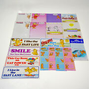 Garfield Vintage 8 Scratch Pad And 5 Stickers And Book Labels Etc From Japan Rare