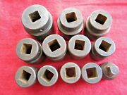 Lot Of 12 Snap-on 5/8 Drive, 6 Point Impact Sockets, 5/8-1/2 Reducer Tool Usa