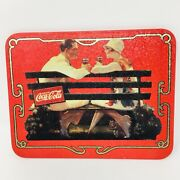 Coca-cola 1996 Metal Tin Sign 8.5 X .25x 6.5 Two People Sitting On A Bench