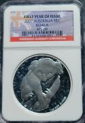 2007 P Australian Koala 1 Oz Silver Ngc Ms69 - First Year Of Issue Label