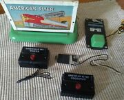 American Flyer Whistle Billboard And Uncoupler And 2 Pushbuttons
