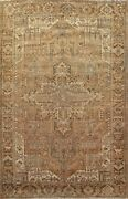 Vintage Geometric Traditional Oriental Area Rug Hand-knotted Wool Carpet 8x12 Ft