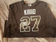 Mike Trout Signed Autographed Black Kiiiiid Authentic Game Jersey Mlb Coa