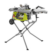 Ryobi Table Saw Rolling Stand 15 Amp 10 In 3.0 Hp Benchtop Power Tool Corded