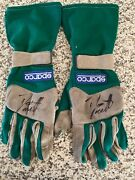 Dario Franchitti Race Used Worn Drivers Gloves Indycar Indy 500 Autographed