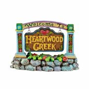 Dept 56 Jim Shore Village Welcome To Heartwood Creek Sign 4021339 New In Box
