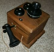 Western Electric Candlestick Telephone Parts In Magneto Box Homemade Diy Custom