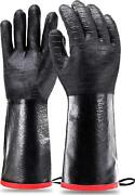 Schwer Grill Bbq Gloves 932℉ Heat Resistant Cooking Barbecue Gloves Gloves