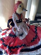 Taxidermy Chick Duck Head On Vintage Doll And Dress Gothic Gypsy Oddities 9andrdquo