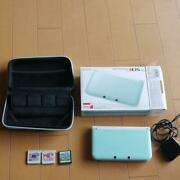 Nintendo 3ds Ll Mint White Charger Cover With Cassettes From Japanex Condition