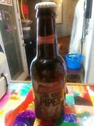 Budweiser Big Glass Beer Bottle Cool Your Pipes Label Collectible Coin Bank Bb