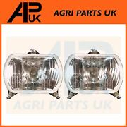 Pair Of Headlight Headlamp Front Lh Or Rh For Fiat Ford New Holland Tractor
