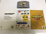 Mario Kart 64 N64 Tested Works Authentic Cart W/ Inserts And Manual Vg