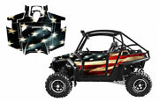 Rzr Xp 900 Graphics Decal Kit 2011-2014 With Door Option American Tattered Flag