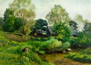 William Crothers Fitler Ny1857-1915 Oil Painting Antique