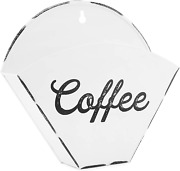 Auldhome Enamelware Coffee Filter Holder, Wall-mount Vintage Farmhouse Style