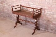 Baker Furniture Georgian Carved Mahogany Tea Table With Removable Copper Tray