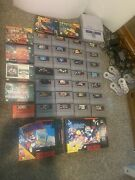 Snes Console With Games And Controllers Rare Games Chrono Trigger And More
