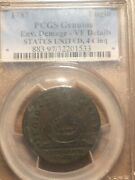 1787 Fugio Cent Colonial Copper Coin Certified Pcgs Vf Details Rare Reduced