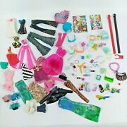 Monster High And Similar Doll Accessories Jewelry Clothes Glasses Shoes Huge Lot