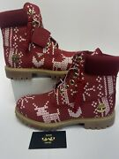 New Christmas Limited Rare Ugly Sweater Boots Men's Size 8