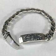 New No Brand Silver Bracelet Silver 925 19 Cm In Length Mens Accessories