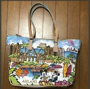 Used Dooney And Bourke Aulani Disney Collaboration Tote Bag H42 W27 D15cm