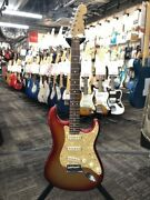Fender American Deluxe Stratocaster Sunset Metallic 2012 Made Used 9-206