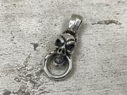 Used Bill Wall Leather Good Luck Skull W Ring Mens Accessories M With Bag