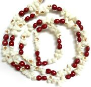 Popcorn And Cranberry Christmas Tree Garland Vintage Style Red R