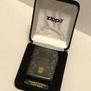 Unused 2016 Zippo Gold Ingot 4 Side Processing Luxury Velor Outer Box Only 200