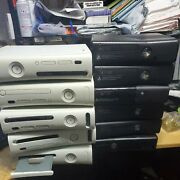 Lot Of 11 Microsoft Xbox 360 Consoles, Sold As Is Untested Parts Or Repair.