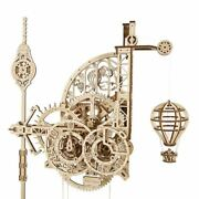 Ugears Mechanical 3d Puzzle Wooden Aero Wall Clock Model For Self-assembly