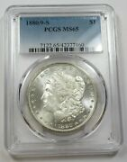 1880/9-s Pcgs Ms65 Mint State Silver Morgan Dollar 1 Us Coins Item 29064a