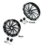 18and039and039 Front And Rear Wheel Rim W/ Disc Hub Fit For Harley Touring Glide 2008-2021