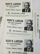 Hall County Nebraska 1980 Local Election Card Rudy V Larson Candidate Lot Of 5