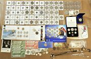 Junk Drawer Estate Cleanout Sale With Silver Coins Unc Sets And Costume Jewelry C