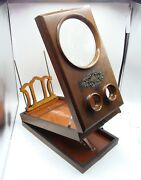 Large Antique Graphoscope Wooden Folding Stereo Viewer C 1870