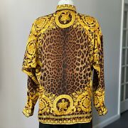 Gianni Versace Silk Shirt Wild Baroque Print Size It 52 From Ss 1992