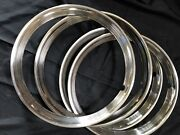 Ribbed Chrome Stainless Steel Trim Rings That With Hubcaps