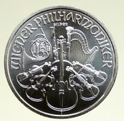 2015 Austria Violins Of Vienna Philharmonic Old Silver 1 1/2 Euro Coin I94958
