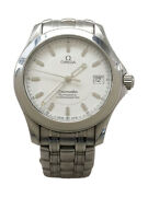 Wristwatch Omega Seamaster Menand039s Used Silver White Automatic Analog 40mm