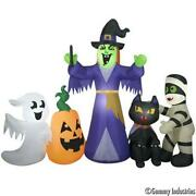 Halloween Inflatable Prop Haunted Haus Light Up Decor Witch And Friends