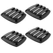 4x Louvered Vents Marine 3-1/4and039and039 Hull Air Vent For 3and039and039 Tube Hose Black